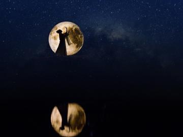 月圆之夜唯美句子