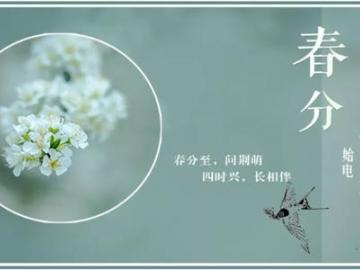 今日春分,一起迎接春天的配图句子说说