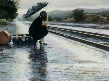 关于下雨天唯美的伤感说说:明知道不会有结果,就请别开始