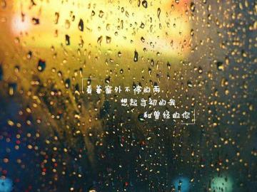 下雨天的心情说说伤感 心早已经被淋湿透彻