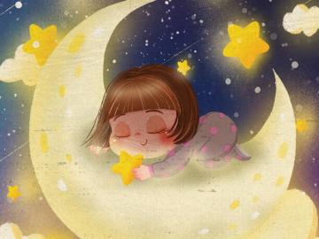 月亮躲进云端,星星不再眨眼的晚安说说