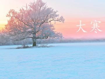 大寒节气到来,寒冷的是天气,温暖的是祝福