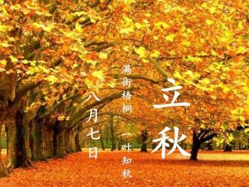关于立秋有诗意的心情说说