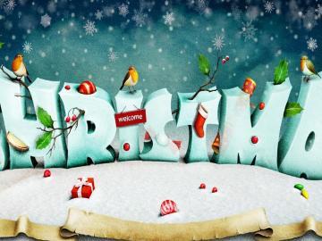 午夜钟声响起,迎来圣诞祝福