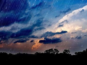 暴雨说下就下的说说